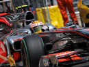 Lewis Hamilton piles on the steering lock, Monaco Grand Prix, Monte Carlo, May 16, 2010