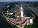 An aerial view of the Circuit de Gilles Villeneuve