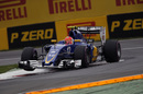 Felipe Nasr rounds the apex