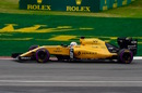 Kevin Magnussen on track in the Renault