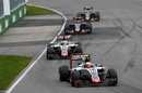 Esteban Gutierrez works hard to keep his position