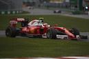 Kimi Raikkonen pushes hard