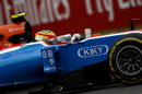 Rio Haryanto works hard on his pace