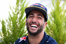 Daniel Ricciardo smiles during the media session