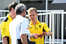 Kevin Magnussen in the paddock
