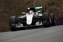 Lewis Hamilton puts the supersoft tyres