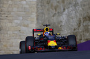 Daniel Ricciardo at speed in qualifying