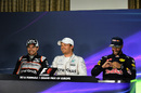 Top 3 drivers in the press conference after qualifying