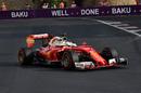 Sebastian Vettel pushes hard