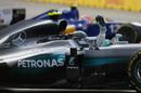 Nico Rosberg celebrates his win