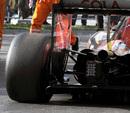 The broken rear suspension of Daniil Kvyat