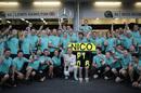 Race winner Nico Rosberg celebrates with his team