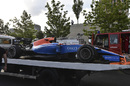 The car of Pascal Wehrlein is recovered