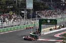 Sebastian Vettel leads his teammate Kimi Raikkonen