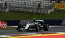 Nico Rosberg on the intermediate tyre