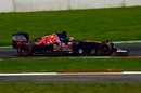 Daniil Kyat putting the supersoft tyres