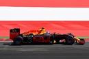 Max Verstappen on track