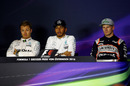 Top three drivers in the press conference after qualifying