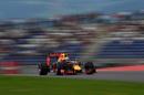 Daniel Ricciardo at speed in the Red Bull