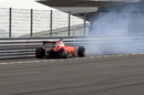 Sebastian Vettel crashed out from the race