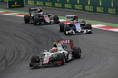 Esteban Gutierrez leads Felipe Nasr and Jenson Button