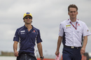 Felipe Nasr walks the track