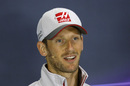 Romain Grosjean in the press conference