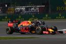 Max Verstappen approaches a corner
