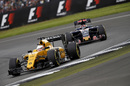 Kevin Magnussen at speed in the Renault