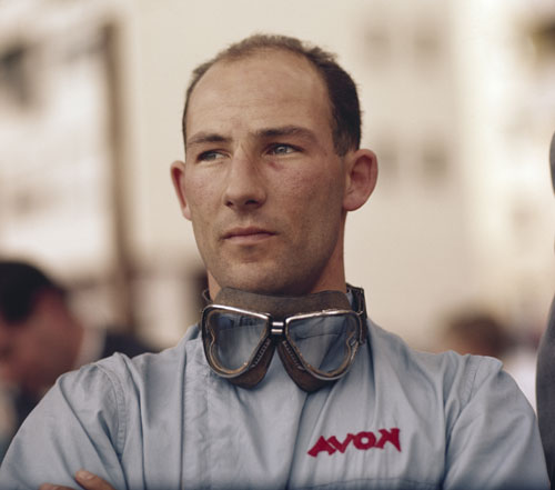 Stirling Moss in the pits
