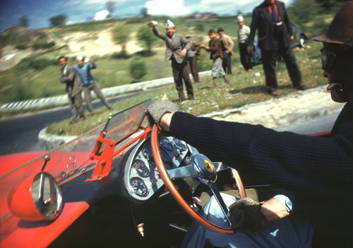 On board with Peter Collins at the Mille Miglia