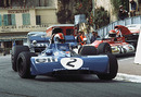 Francois Cevert leads Helmut Marko through the Station Hairpin