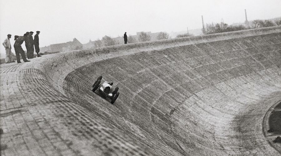 Bernd Rosemeyer tests an Auto Union