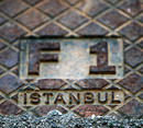 A manhole cover at the Istanbul Park circuit