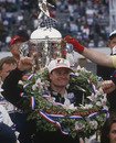 Buddy Lazier celebrates winning the Indy 500 at the Indianapolis Motor Speedway