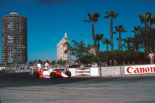 Niki Lauda en route to winning the United States Grand Prix West