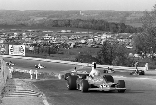 Pole sitter and race winner Niki Lauda leads the field en route to winning the United States Grand Prix