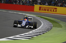 Felipe Nasr at speed in qualifying