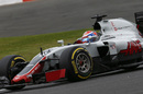 Romain Grosjean works hard to keep its pace