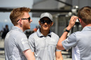 Rio Haryanto looks relaxed in the paddock