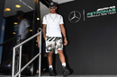 Lewis Hamilton in the paddock