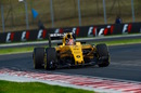 Esteban Ocon on track in the Renault