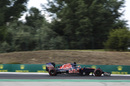 Daniil Kvyat at speed in the Toro Rosso