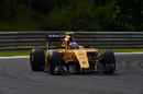 Jolyon Palmer on a supersoft tyre run