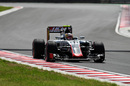 Charles Leclerc on track in the Haas