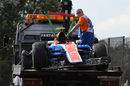 The crashed car of Rio Haryanto is recovered in Q1
