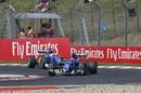 Felipe Nasr leads his teammate Marcus Ericsson