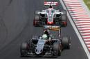 Nico Huldenberg leads Romain Grosjean