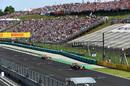 Max Verstappen leads Kimi Raikkonen