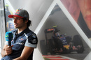 Carlos Sainz talks with media